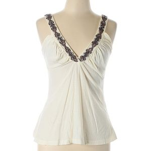 Rebecca Beeson Beaded Sleeveless Top EUC